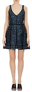 Proenza Schouler WOMEN'S WAVE-PATTERN JACQUARD A-LINE DRESS-BLUE SIZE 2