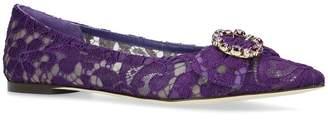 Dolce & Gabbana Belucci Crystal Flats