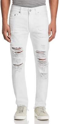 True Religion Rocco Slim Fit Jeans in White Volcanic Ash