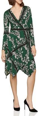BCBGMAXAZRIA Isabella Handkerchief-Hem Wrap Dress