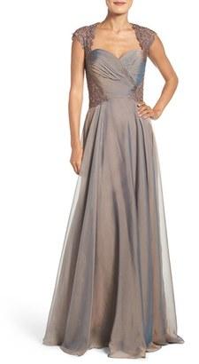 La Femme Ruched Chiffon Gown $628 thestylecure.com