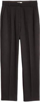 H&M Ankle-length Suit Pants - Black