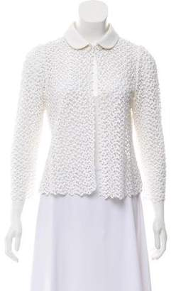 Peter Som Collared Lace Jacket