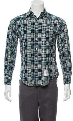Thom Browne Plaid Patchwork Casual Shirt