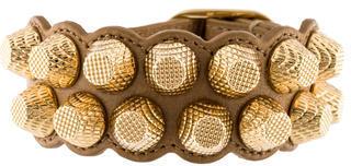 Balenciaga Balenciaga Giant Leather Stud Bracelet w/ Tags