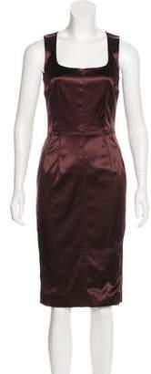 Dolce & Gabbana Satin Sheath Dress