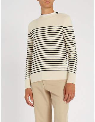 Brioni Stripe-print cashmere jumper