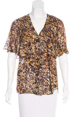 BCBGMAXAZRIA Short Sleeve Silk Blouse w/ Tags