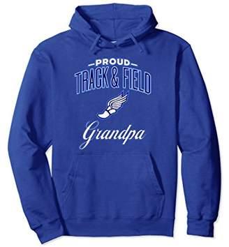 Proud Track & Field Grandpa Hoodie for Men