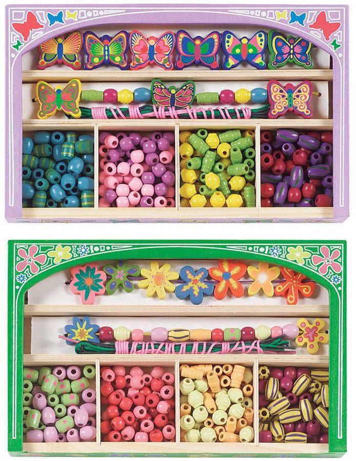 Melissa & Doug Butterfly & Flower Power Bead Set Bundle