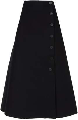 Awake Buttoned Midi Skirt