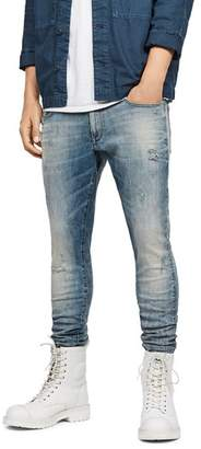 G Star 3301 Deconstructed Skinny Fit Jeans in Light Vintage