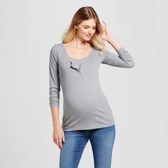 Ingrid & Isabel Isabel Maternity by Maternity Long Sleeve Nursing Henley - Isabel Maternity by