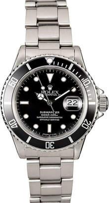 Rolex Bob's Watches Stainless Steel Submariner 16610 Watch