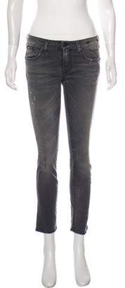 R 13 Kate Mid-Rise Straight-Leg Jeans