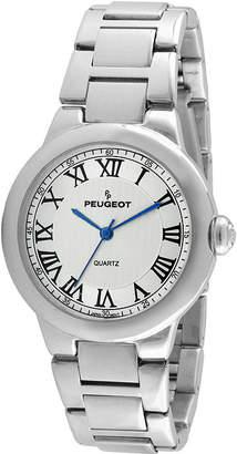 Peugeot Womens Roman Gillouch Dial Silver-Tone Bracelet Watch
