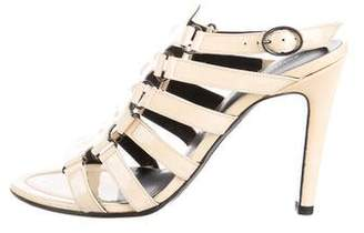 Bottega Veneta Patent Leather Cage Sandals