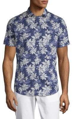 Slate & Stone Floral Short-Sleeve Cotton Button-Down Shirt