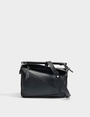 003d795f3df7 at MONNIER FRERES Loewe Puzzle Small Bag in Black Classic Calf