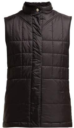 Burberry Leintune Faux Shearling Quilted Gilet - Womens - Black