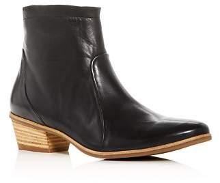Paul Green Women's Shaw Leather Western Low Heel Booties