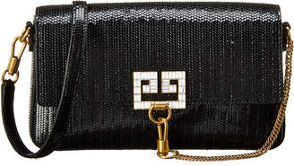 Givenchy Charm Snake Effect Leather Shoulder Bag