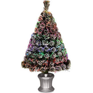 NATIONAL TREE CO National Tree Co. 3 Foot Evergreen Flocked Pre-Lit Flocked Christmas Tree