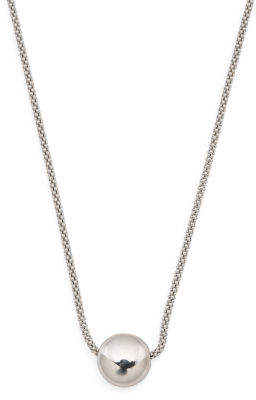 Made In Italy Sterling Silver 10mm Ball Silver Necklace