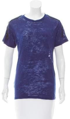 Torn By Ronny Kobo Embellished Short Sleeve Top