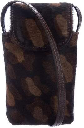 Sonia Rykiel Ponyhair Cellphone Crossbody Bag
