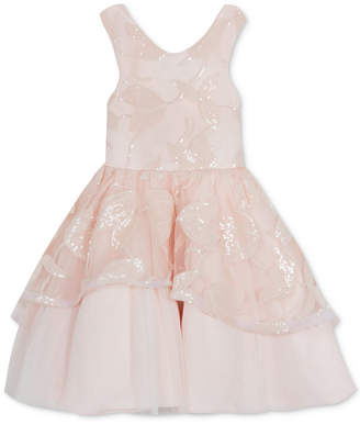 2275497fe8000 Rare Editions Little Girls Embroidered Fit   Flare Dress