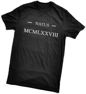 Bertie Natus MCMLXXVIII T-Shirt (Born 1978 in Latin/Roman Numerals)