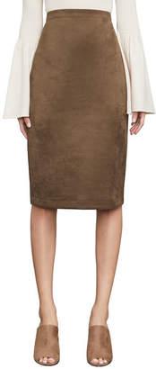 BCBGMAXAZRIA Lyric Faux Suede Pencil Skirt
