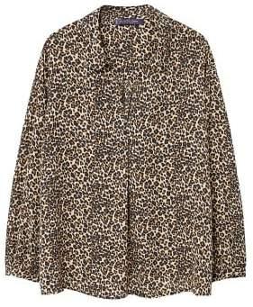 Violeta BY MANGO Animal print blouse
