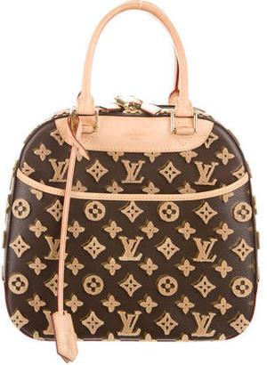 Louis Vuitton Tuffetage Deauville Cube Bag $1,995 thestylecure.com