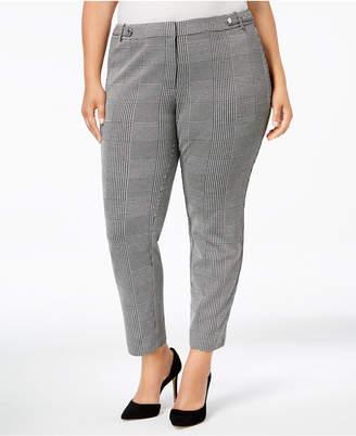Calvin Klein Plus Size Plaid Ankle Pants