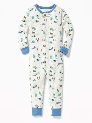 Old Navy Camping Print One-Piece Sleeper for Toddler & Baby