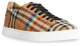 Burberry Westford Rainbow Plaid Sneakers