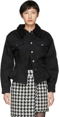 Off-White Black Silhouette Track Denim Jacket