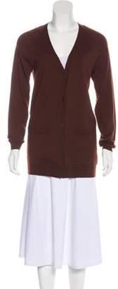 Dries Van Noten Wool Button-Up Cardigan Brown Wool Button-Up Cardigan