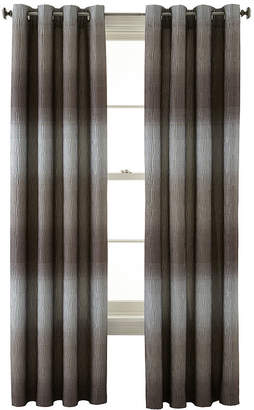 Liz Claiborne STUDIO BY JCP HOME Dakota Two-Tone Lined Grommet-Top Curtain Panel
