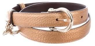 Gucci Embellished Metallic Belt