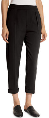 Vince Pull-On Tapered Cropped Trousers $345 thestylecure.com