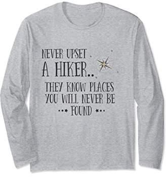 Never Upset A Hiker Funny Long Sleeve Shirt