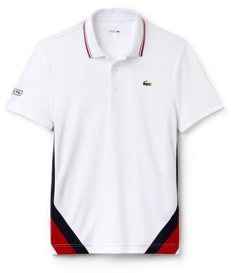 Lacoste Men's SPORT Colorblock Bands Technical Pique Tennis Polo