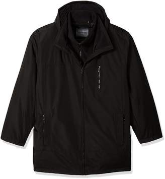 Calvin Klein Men's Big and Tall Poly Bonded Hooded Vestie
