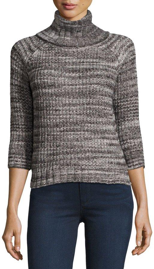 Three DotsThree Dots Turtleneck Tweed-Knit Sweater