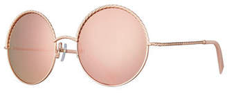 Marc Jacobs Round Metal Twist Sunglasses