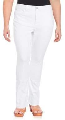 NYDJ Plus Straight-Leg Jeans
