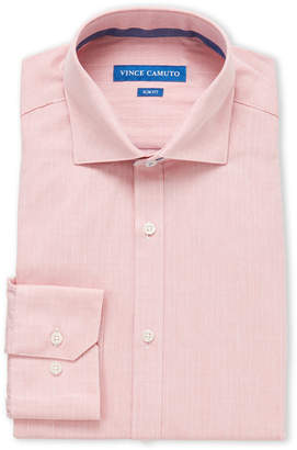 Vince Camuto Light Red Dobby Slim Fit Dress Shirt